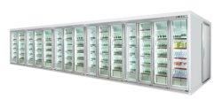 호텔용 유리 도어 디스플레이 냉장 보관실 10개