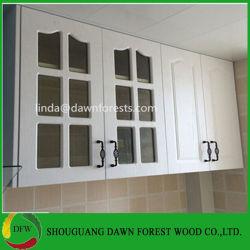 Новые простые конструкции деревянной кухни из стекла двери шкафа электроавтоматики