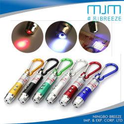 LED-UVlicht Keychain mit Laserlicht Keychain des BergCliming Haken-Laser-Zeiger-LED