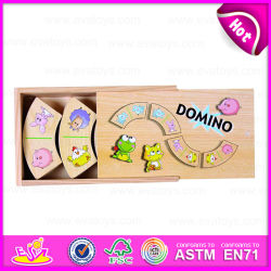 2015 Toys caldo Kids Wooden Domino Blocks Game Set, Customize Wooden Domino Toy, Domino con En71 Standard per Promotion Toy W15A008