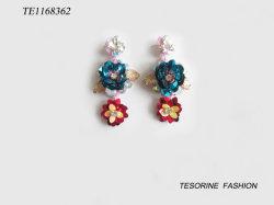 Design de Mode couleur chaude Fleur de vente de bijoux Earring