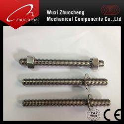 Нержавеющая сталь A2, A4 в два раза до конца шпильки крепления с сертификатом ISO