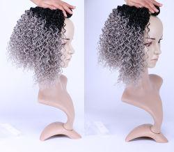 高温絹の総合的なかつらのジェリー巻き毛カラー毛1bの灰色の総合的な毛の拡張