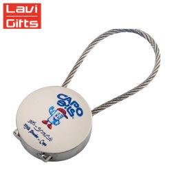 Llavero árabe tornillo personalizados fabricante de acero inoxidable de bloqueo de cable de color del soporte de alambre Llavero