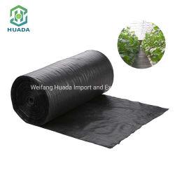 De color negro de la agricultura contra el suelo de plástico tejida PP Geotextile cubierta de control de malezas Mat