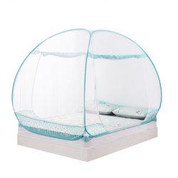 新しい反蚊帳1.5 Mの両開きドアの寮のベッドのネットが付いている1.8 Mの自由なインストールダブル・ベッド