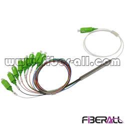 Optische PLC van de Vezel van de Buis van het Staal van Sc/APC 1X8 MiniSplitser