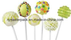 Bastoni bianchi del documento del Lollipop del commestibile
