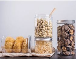 알루미늄 플라스틱 뚜껑을%s 가진 제조자 애완 동물 공간 빈 플라스틱 단지는 투명한 둥근 감미로운 사탕 단지 플라스틱 용기를 도매한다