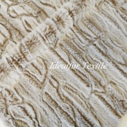 De in reliëf gemaakte Valse Stof van het Bont van Faux van het Konijn voor Kledingstukken