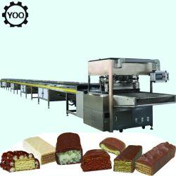 C1849 고온 자동 와퍼 비스킷 초콜릿 코팅 생산 라인/소형 초콜릿 도포 기계