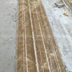 Luz polido Emperador Linha pedra mármore marrom / friso em mármore para material de construção