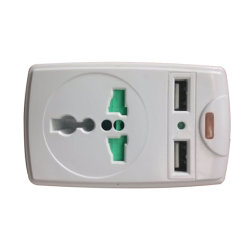 Tomada de parede protetor contra surtos de energia Universal Adaptador de viagem com adaptador de portas de carregamento USB