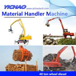 Timber Grab Wheeled Crawler Stationary Material Handler Machine