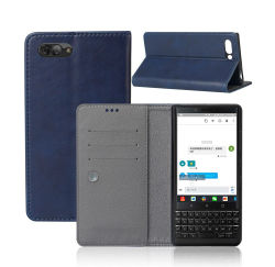 Teléfono monedero caso Slim trasera de cuero de PU cubierta de la funda protectora para Blackberry Key 2