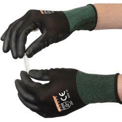 Оптовая торговля общего назначения PU покрытием работы защитные перчатки в черный