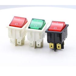 Кулисный переключатель 250V 4 Контакт Dpst on/off горит кнопка автомобилей AC белого цвета для бойлера