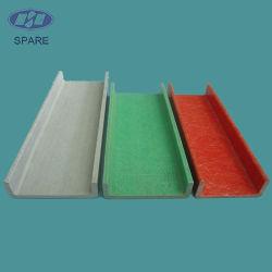 Composant de rechange Pultrusion FRP canal pour la lumière des escaliers de l'échelle de poids