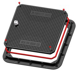 Station essence gaz de haute qualité SMC carré étanche pile couvercle de trou d'homme Composite couvercle de trou d'homme d'empilage étanche et le châssis PRF empilées ronde couvercle de trou d'homme