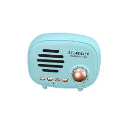 Nouvelle arrivée Bass Classic Retro Portable Mini Caisson de basses sans fil haut-parleur Bluetooth la radio multimédia avec disque U