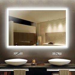 يشكّل تركيب مرآة [لد] غرفة حمّام مرآة علا جدار ضوء يشعل حاجة [بكليت] تفاهة ضوء مع لمس مفتاح & [بلوتووث] المتحدث