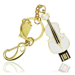 Скрипка формы украшений USB флэш-памяти для рождественских подарков 1ГБ 4 ГБ 8 ГБ