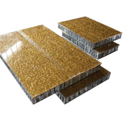 Ambre Couleur aluminium panneau composite sandwich nid d'abeille pour la construction de décoration