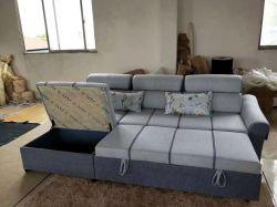 Di tiraggio di memoria della mobilia funzionale del tessuto del popolare base di sofà sezionale fuori
