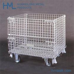 Lager-Speicher-Stahlmaschendraht-Behälter-Rahmen-Karren-Rollenräder