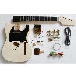 OEM Gold Hardware Kit Guitare flammé de placages inachevée