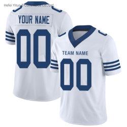 Camice bianche di gioco del calcio di ritorno al passato degli uomini rapidi di Dred di stampa di sublimazione del Colts
