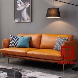 Meubles de maison de luxe canapé en cuir ensemble salle de séjour