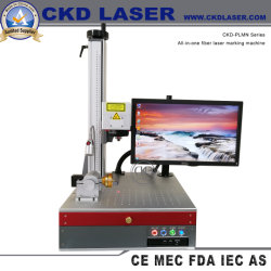Tudo-em-um marcador a Laser de fibra portátil para Tubo de Metal ecrã LCD Rotray Tubo têxteis