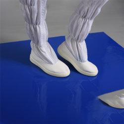 Stuoia appiccicosa del pavimento della stuoia di bianco PE/PVC del locale senza polvere blu industriale di pulizia