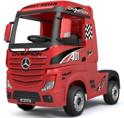 [مرسدس] [أكتروس] شاحنة يرخّص عمليّة ركوب على سيدة لعبة كهربائيّة جدي سيدة