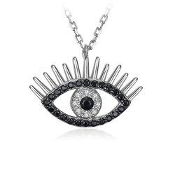 Collana cubica/pendente d'argento dell'occhio diabolico di Zirconia monili di modo/dei monili come regalo
