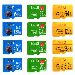 Venda por grosso de Cartão de Memória Flash no Cartão Microsd de 16 GB, 32GB, 64GB, 128GB Mini-TF Card Micro Sdcard Class 10 8GB, 16GB, 32GB para Smartphone