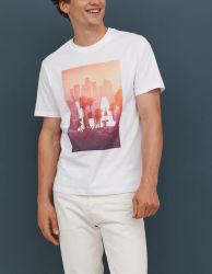 Оптовая торговля Китая белый 3D-печати дизайн футболки для мужчин