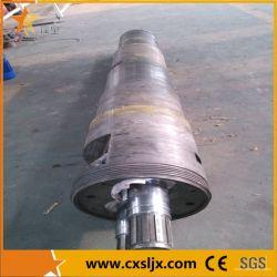 Vis à vis de l'extrudeuse double conique baril pour le tuyau en PVC/profile en plastique rigide de la machine