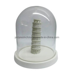 La tapa de cristal de la resina paisaje Micro decoración adornos de Navidad, bola de cristal con Italia regalos de recuerdo de la torre en miniatura