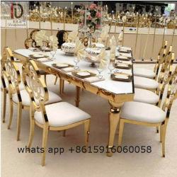Restaurante de Lujo en oro rosa de la boda de acero inoxidable para el evento de parte de la tabla de triángulo