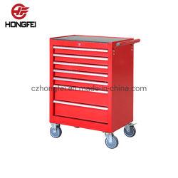 De rode Lade van het Aluminium trekt het Roestvrije AutoKarretje van het Hulpmiddel van de Reparatie