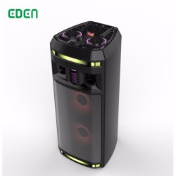 Professionnel sans fil rechargeable portable DJ Sound box de karaoké Trolley PA Bluetooth haut-parleur avec voyant LED ED-606