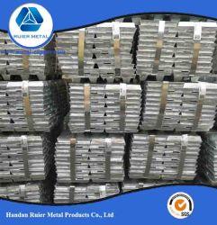 Un grade de haute pureté Internation lingot de zinc standard 99,995 % avec des prix concurrentiels en usine