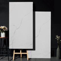 Interrompu en porcelaine de marbre blanc de Carrare Look carrelage de sol 1200x600