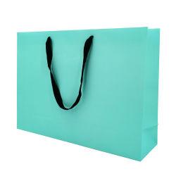 Groothandel Custom Made Paper Bag Met Uw Eigen Logo Ribbon Handvat Gift Shopping Bag