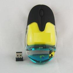 昇進のギフトのコンピュータの浮く物によってワイヤーで縛られる液体マウス