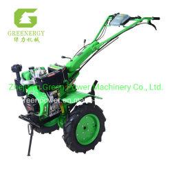 Зеленый индикатор питания дизельного двигателя поворотного культиватор 10HP D186f 4 мин хода рычага Multi-Fuction с электроприводом и начать