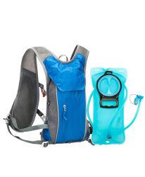 حقيبة ظهر مائية غير قابلة للالتهيدرات تعمل على هرس حزمة، حقيبة دراجات جبلية مع مثانة مائية سعة 2 لتر، خارجية خفيفة الوزن، تدوير الهدر