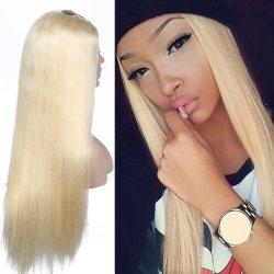 La blonde 613 Long Virgin cheveux Extensions de cheveux humains Full Lace Wig